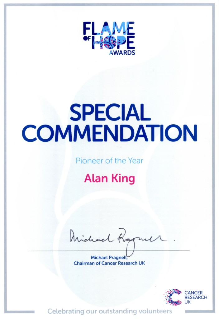 Cancer Research UK - Flame of Hope Award